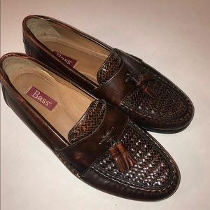 Bass Shoes - Bass Woven Leather Tassel Loafer Size 10 D -Brazil